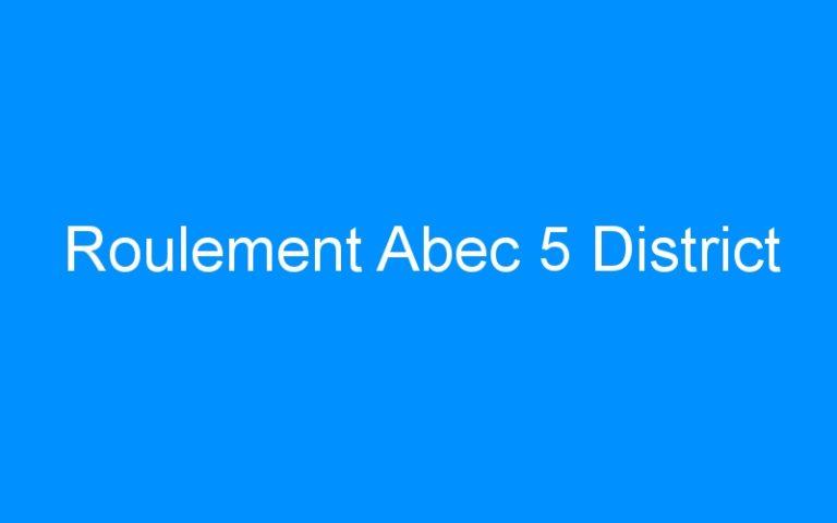 Roulement Abec 5 District