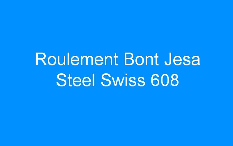 Roulement Bont Jesa Steel Swiss 608