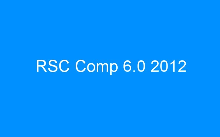 RSC Comp 6.0 2012