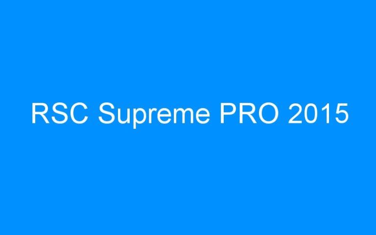 RSC Supreme PRO 2015