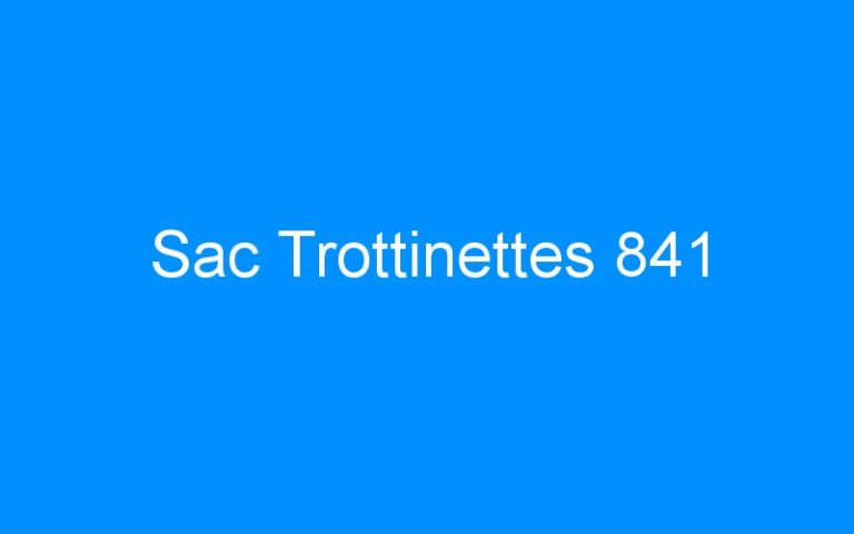 Sac Trottinettes 841