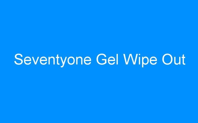 Seventyone Gel Wipe Out