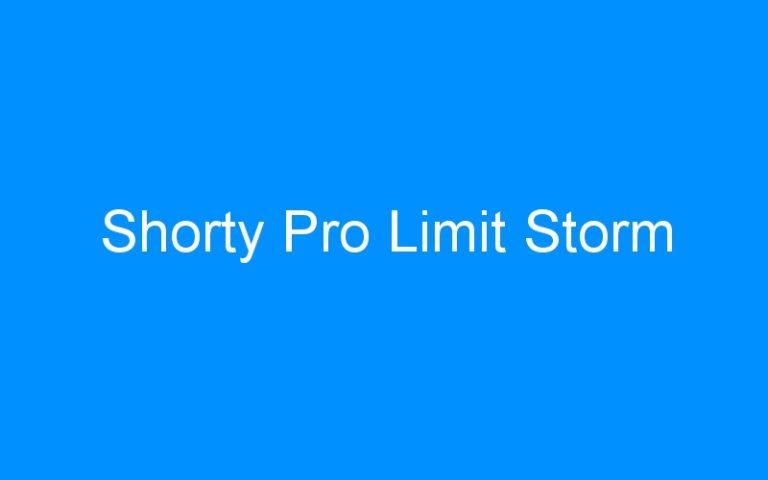 Shorty Pro Limit Storm
