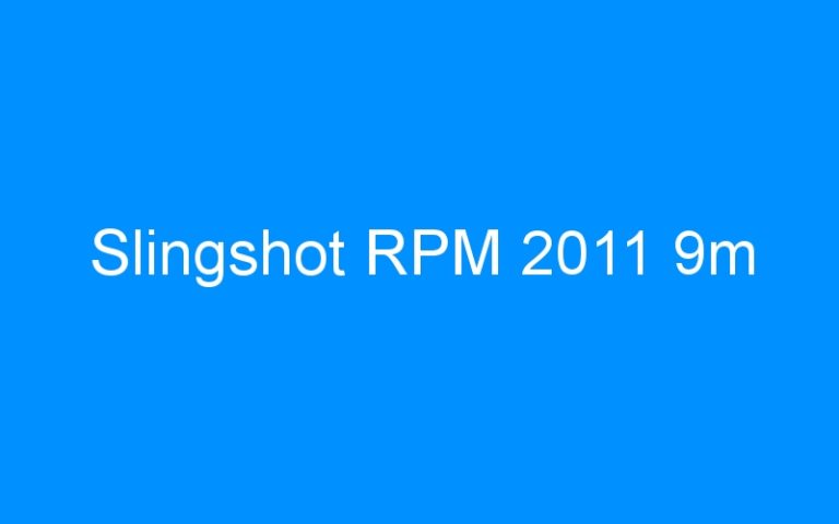 Slingshot RPM 2011 9m