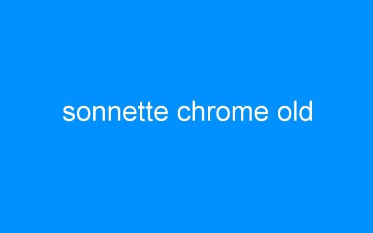 sonnette chrome old