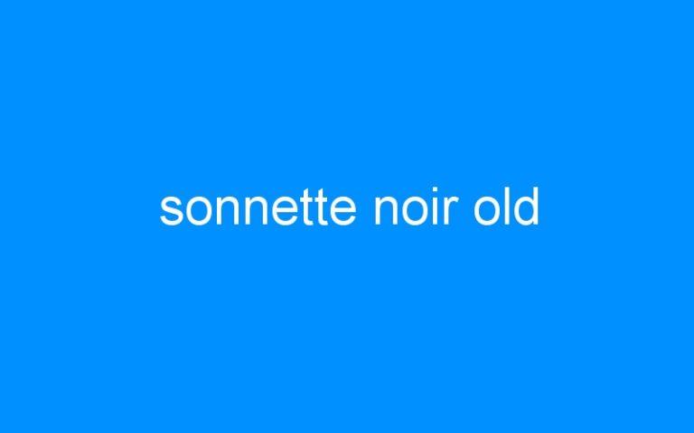 sonnette noir old