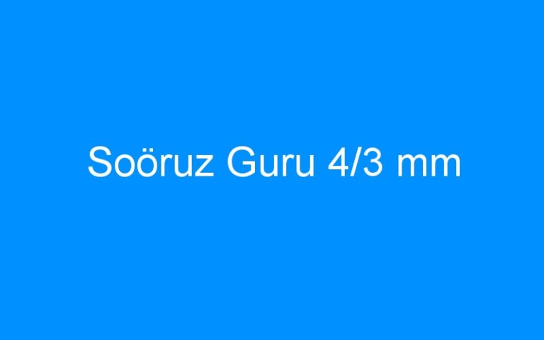 Soöruz Guru 4/3 mm