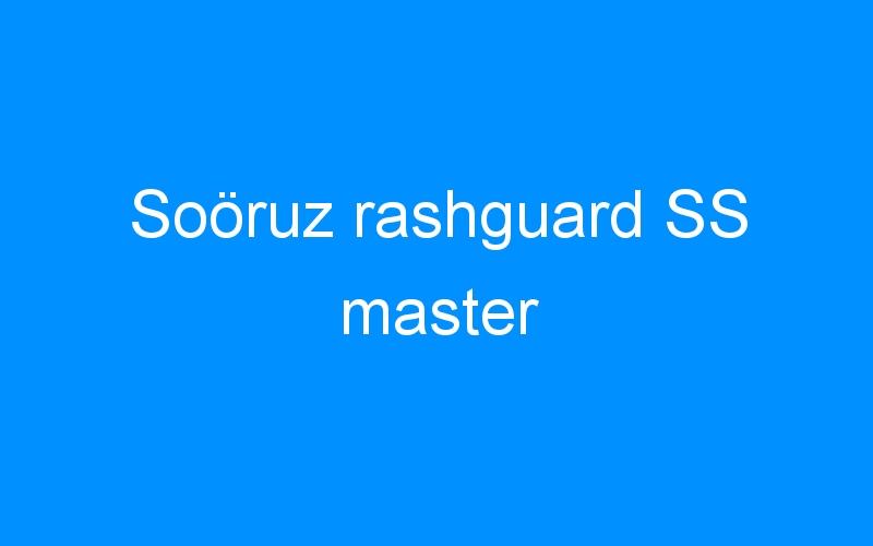 Soöruz rashguard SS master