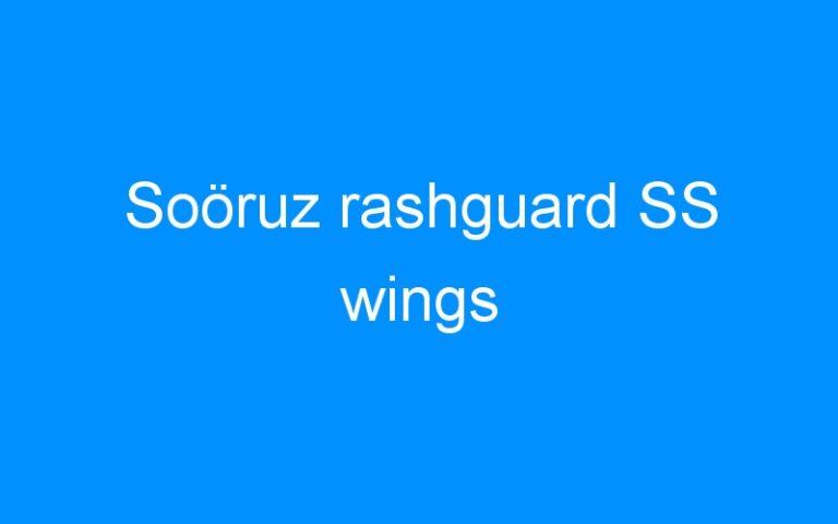 Soöruz rashguard SS wings