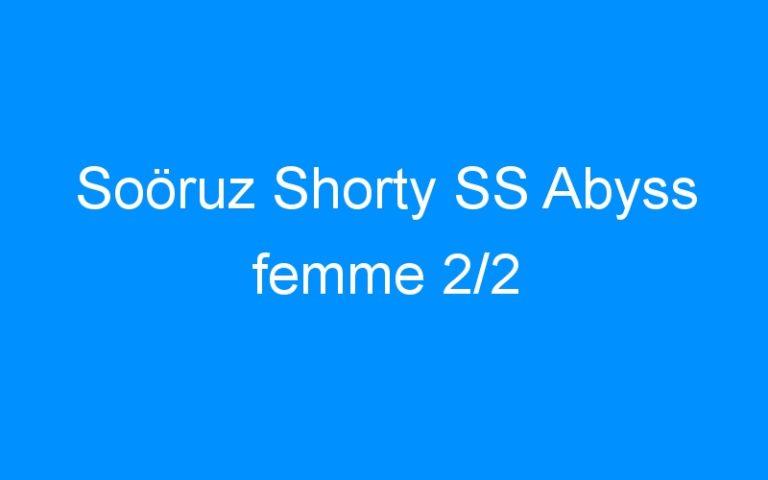 Soöruz Shorty SS Abyss femme 2/2
