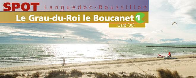 Zone de kitesurf le Boucanet du Grau Du Roi : description.