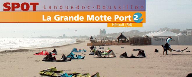 Zone de kitesurf le port de La Grande Motte dans l'Hérault (34)