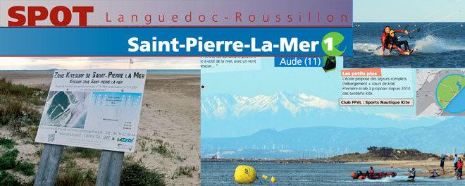 Zone de kitesurf de Saint Pierre La Mer : Accès, stat de vents et description