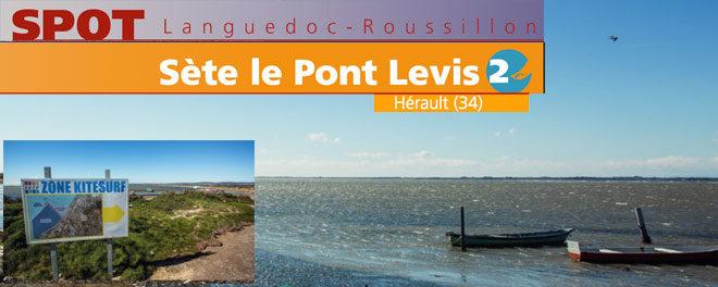 Zone de kitesurf de Sète le pont levis : Accès, stat de vents et description