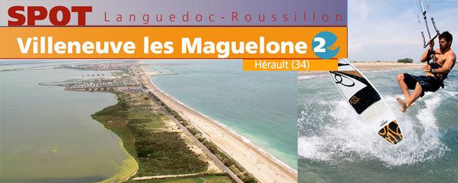 Zone de kitesurf Villeneuve Les Maguelone (Montpellier, Palavas Les flots)