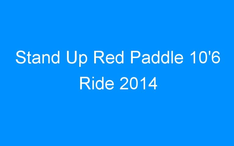 Stand Up Red Paddle 10'6 Ride 2014