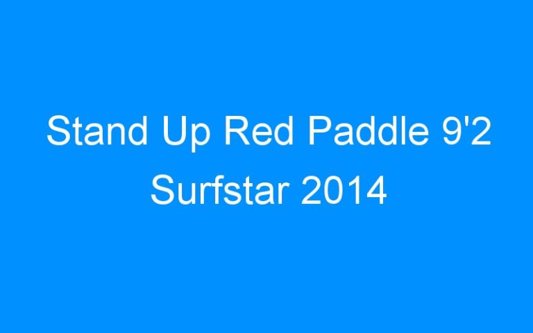 Stand Up Red Paddle 9'2 Surfstar 2014