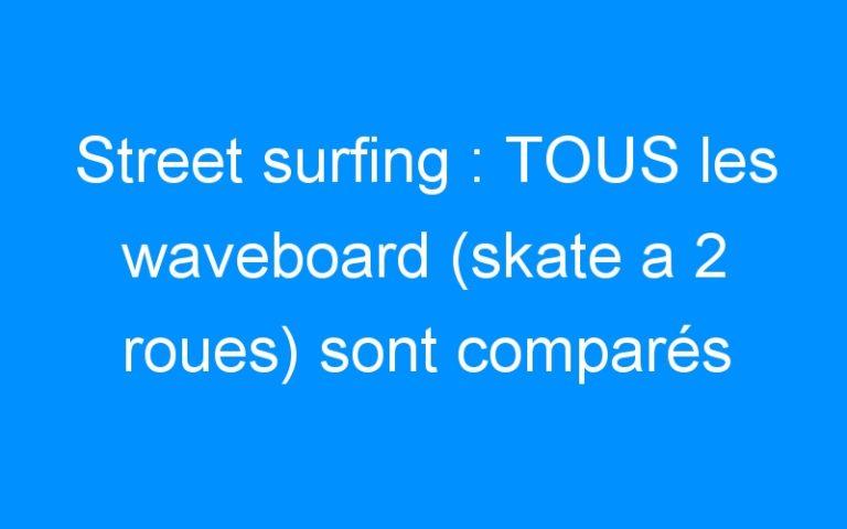 Street surfing : TOUS les waveboard (skate a 2 roues) sont comparés par des passionnés.