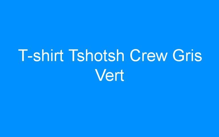 T-shirt Tshotsh Crew Gris Vert