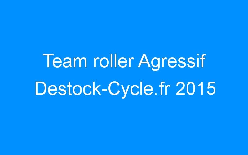 Team roller Agressif Destock-Cycle.fr 2015