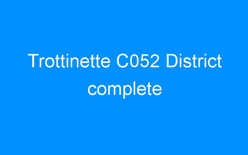 Trottinette C052 District complete