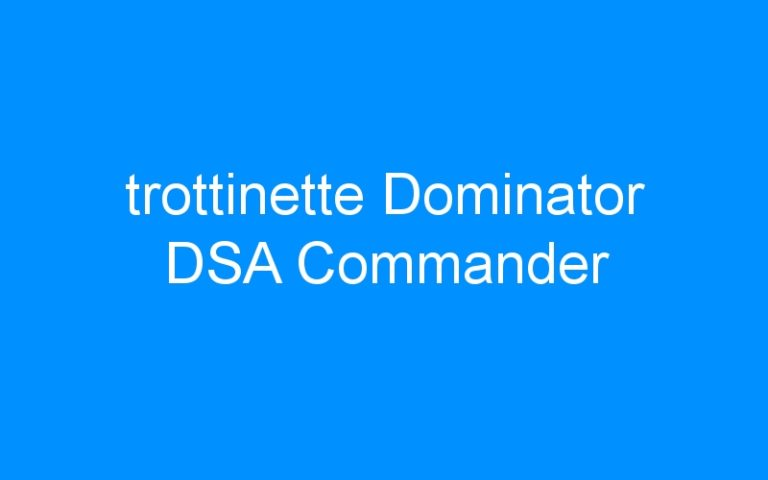 trottinette Dominator DSA Commander
