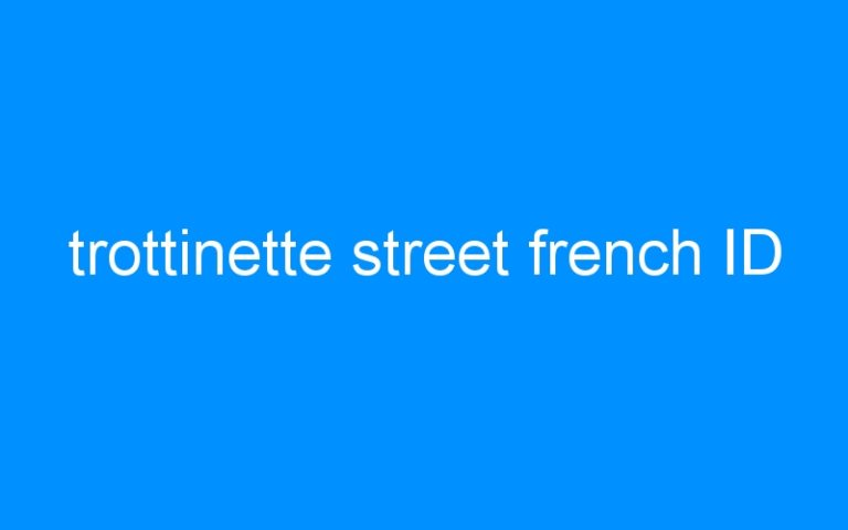 trottinette street french ID