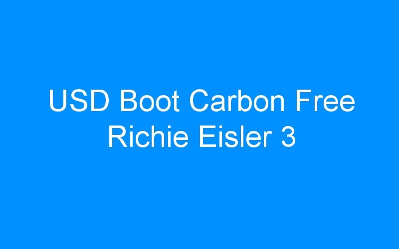 USD Boot Carbon Free Richie Eisler 3