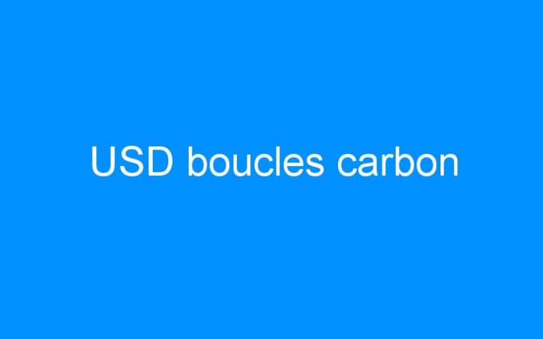 USD boucles carbon