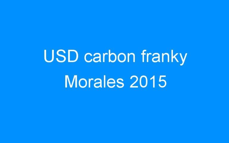 USD carbon franky Morales 2015