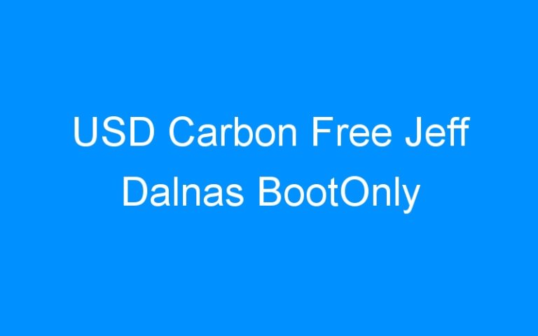 USD Carbon Free Jeff Dalnas BootOnly