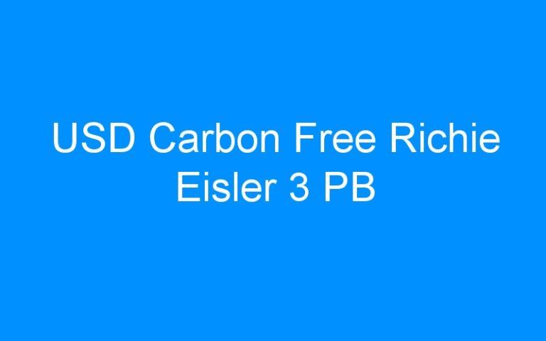 USD Carbon Free Richie Eisler 3 PB
