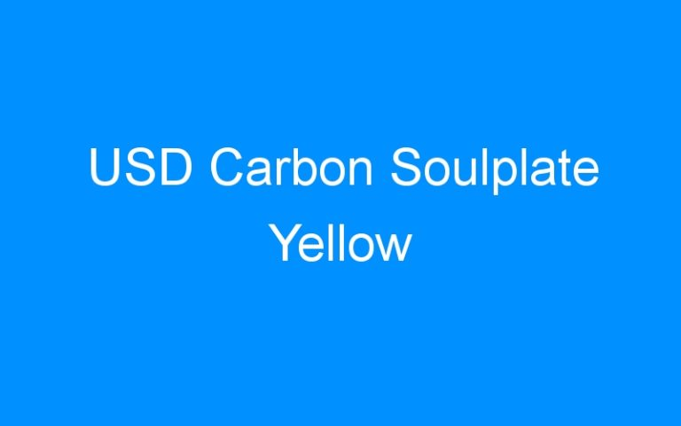 USD Carbon Soulplate Yellow