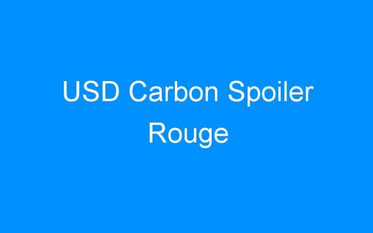 USD Carbon Spoiler Rouge