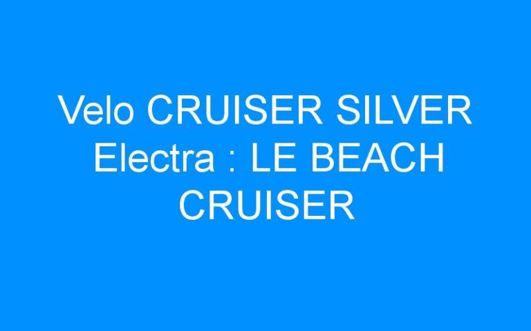 Velo CRUISER SILVER Electra : LE BEACH CRUISER