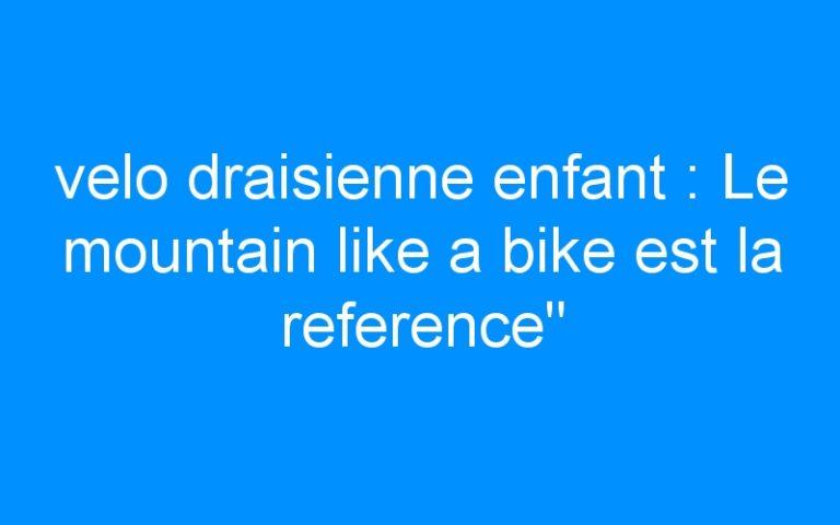 velo draisienne enfant : Le mountain like a bike est la reference»
