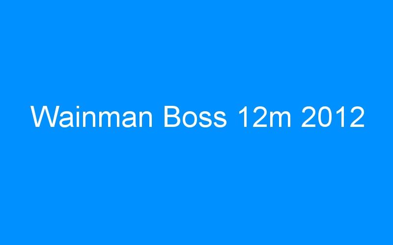 Wainman Boss 12m 2012
