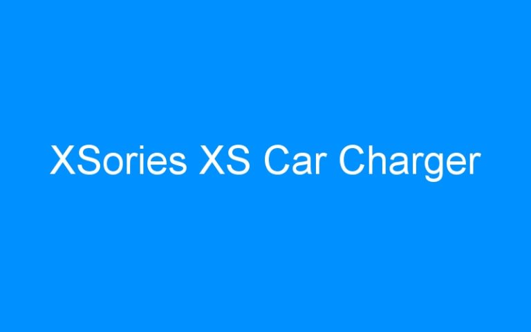 XSories XS Car Charger