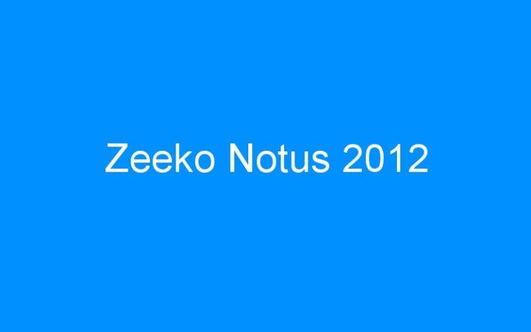 Zeeko Notus 2012